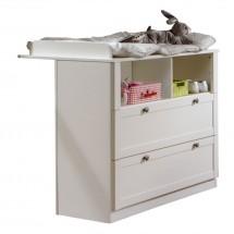 Přebalovací pult Filou - zásuvkový (alpská bílá)