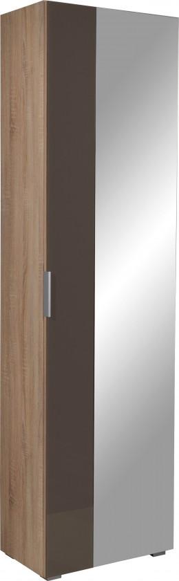 Předsíňová skřín GW-Perla - skříň, 1x dveře (dub sonoma-korpus / grafit-front)
