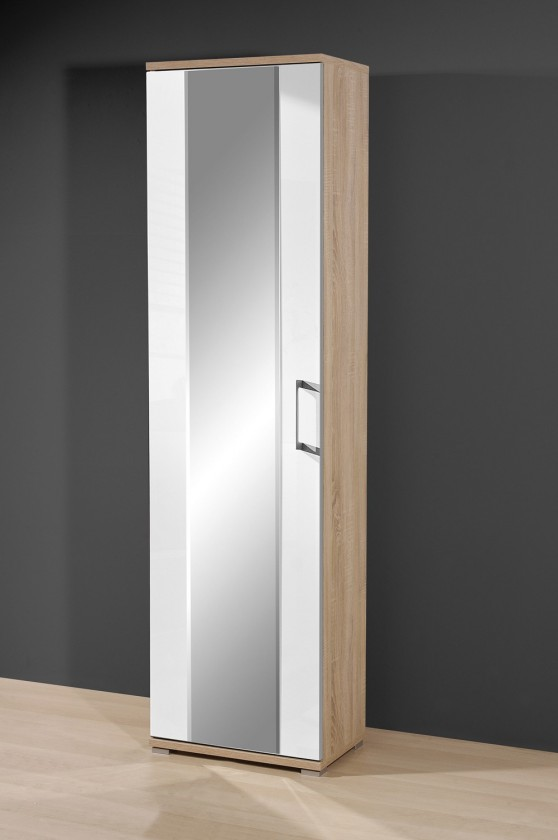 Předsíňová skřín GW-Prima - Skříň se zrcadlem (dub sonoma/bílá)
