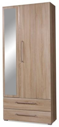 Předsíňová skřín GW-Prisma - Skříň se zrcadlem, 2x zásuvka (dub sonoma)