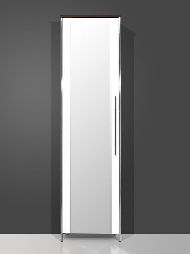 Předsíňová skřín GW-Sandra - Skříň se zrcadlem (wenge/bílá)