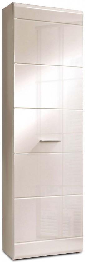 Předsíňová skřín Slate-STXS71-Q86(bílá mat/bílá lesk)