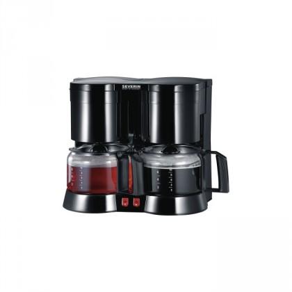 Překapávač kávy Kávovar a čajovar Severin KA5802, černá VADA VZHLEDU, ODĚRKY