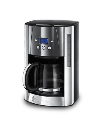 Překapávač kávy Kávovar Russell Hobbs 23241-56, nerez/černá