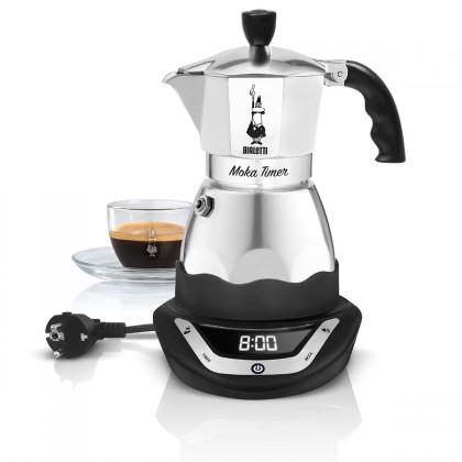 Překapávač kávy Moka konvička Bialetti Moka Easy Timer 3