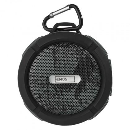 Přenosný reproduktor Bluetooth reproduktor EMOS Freestyler, šedý