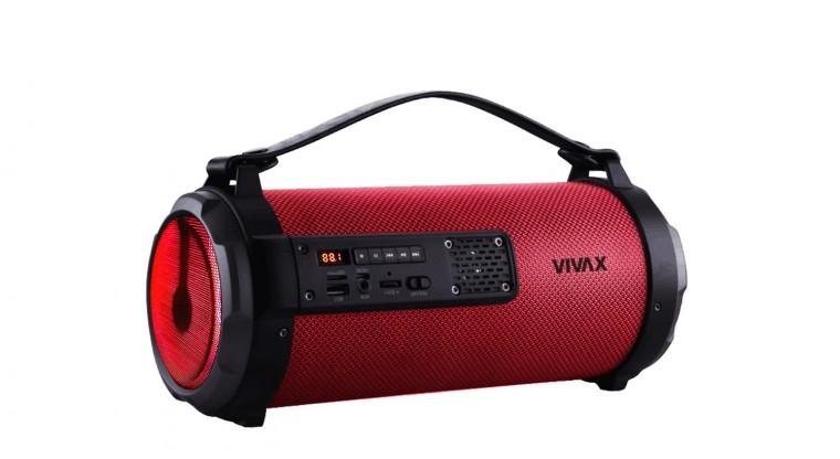 Přenosný reproduktor Bluetooth reproduktor Vivax BS-101, červený