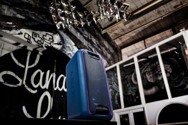 Přenosný reproduktor Party systém SONY GTK-XB5 Modrý