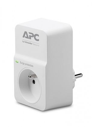 Přepěťová ochrana APC PM1WFR, 1 zásuvka, bílá
