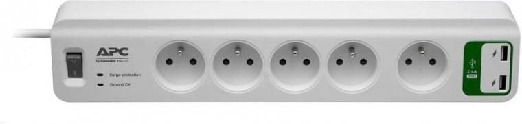 Přepětová ochrana APC SurgeArrest Essential, 5 zásuvek + USB (PM5U-FR)