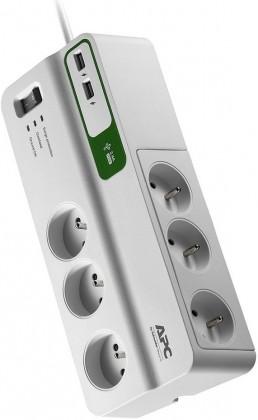 Přepětová ochrana APC SurgeArrest Essential, 6 zásuvek + USB (PM6U-FR)