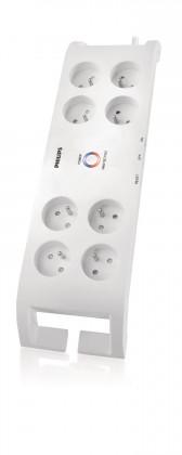 Přepětová ochrana Philips P54030, přepěťová ochrana 8 zásuvek, 2m, 900J