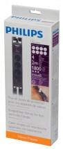 Přepěťová ochrana Philips SPN5044B19, 4 zásuvky, 2m