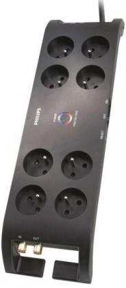 Přepětová ochrana Přepěťová ochrana Philips P54030 8 zásuvek, 2700J, 3m