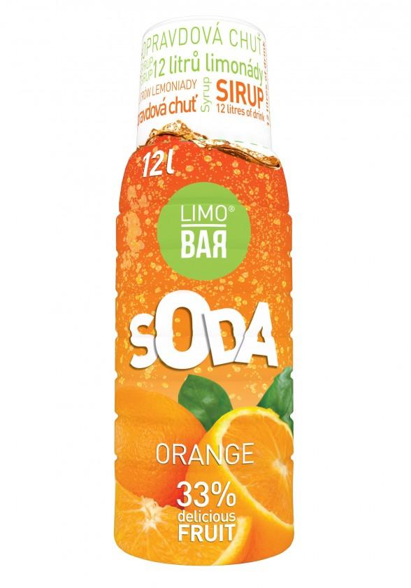Příprava nápojů Sirup Pomeranč pro Limobar