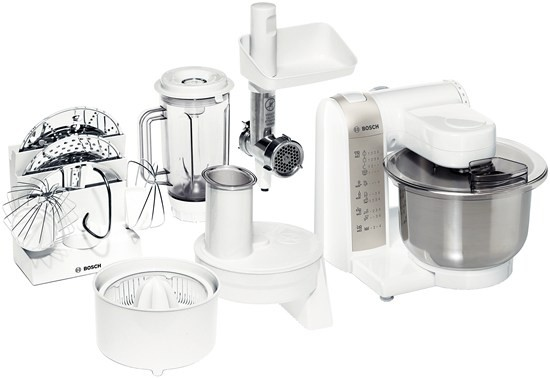 Příprava potravin ZLEVNĚNO Bosch MUM 4880 POUŽITÉ, NEKOMPLETNÍ PŘÍSLUŠENSTVÍ