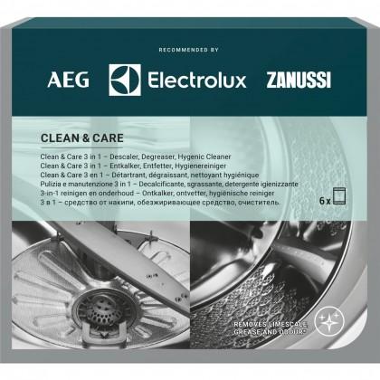 Přípravky do myčky Kompletní péče o pračku AEG Clean and Care, 3v1, 6ks