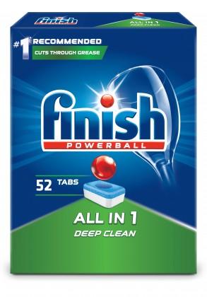 Přípravky do myčky Tablety do myčky Finish 3053523, All in 1, 52ks