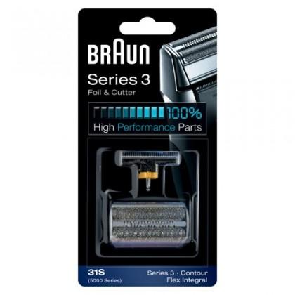 Příslušenství k holícím strojkům Braun CombiPack FlexIntegral - 31S stříbrný