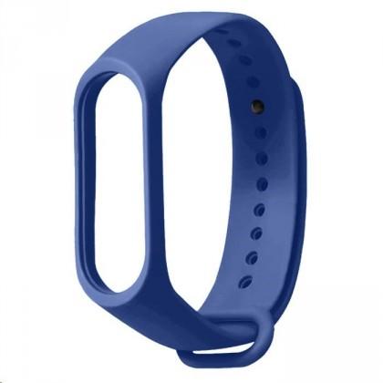 Příslušenství k nositelné elektronice Řemínek pro Xiaomi Mi Band 3/4, silikon, tmavě modrá