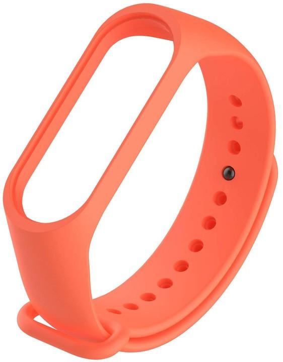 Příslušenství k nositelné elektronice Řemínek pro Xiaomi MI BAND 3 STRAP, oranžová