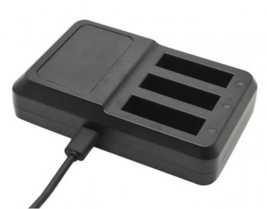 Příslušenství k outdoor kamerám Apei Outdoor USB 3x Battery Charger for GoPro 4