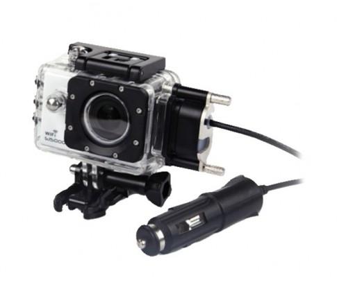 Příslušenství k outdoor kamerám SJ 5000 Ochranný obal s nabíječkou na motocykl