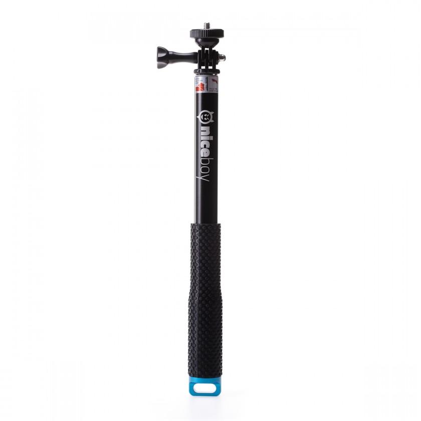 Příslušenství k outdoor kamerám Teleskopický držák Niceboy až 100cm, pro akční kamery