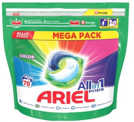 Příslušenství k pračkám Gelové kapsle Ariel A000013391, colour, 70ks
