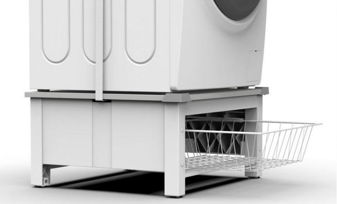 Příslušenství k pračkám Podstavec s košem pro pračku a sušičku Meliconi M656143