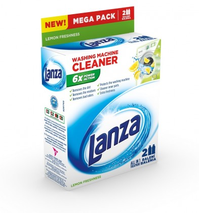 Příslušenství k pračkám Tekutý čistič pračky Lanza A000007874, lemon, 2x250ml