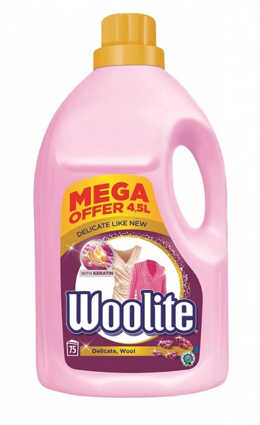 Příslušenství k pračkám WOOLITE Delicate a Wool 4,5 l / 75 pracích dávek