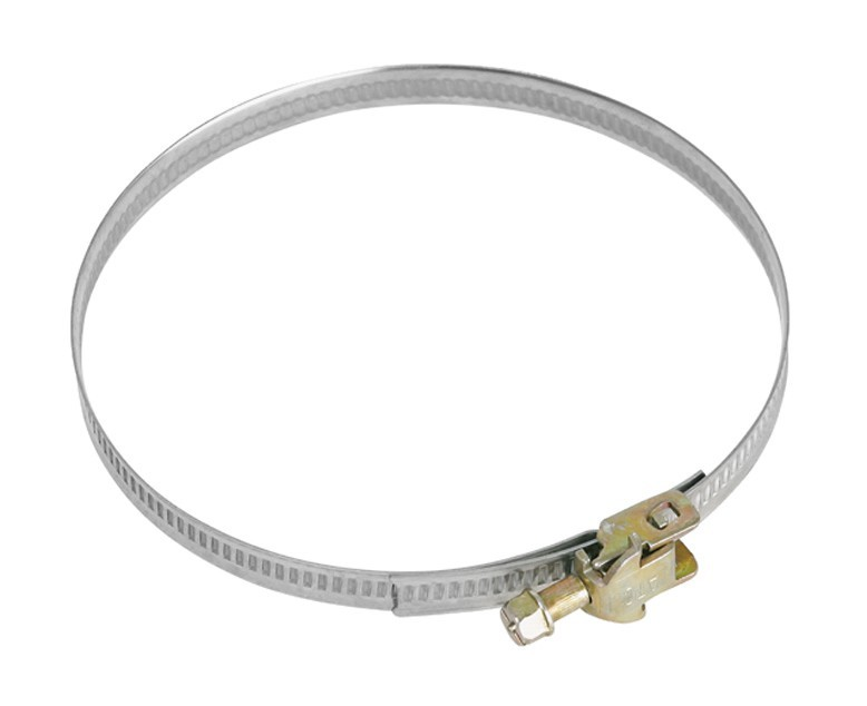 Příslušenství pro odsavače par MORA (MV110) Upínací kovová páska se sponou,110 mm