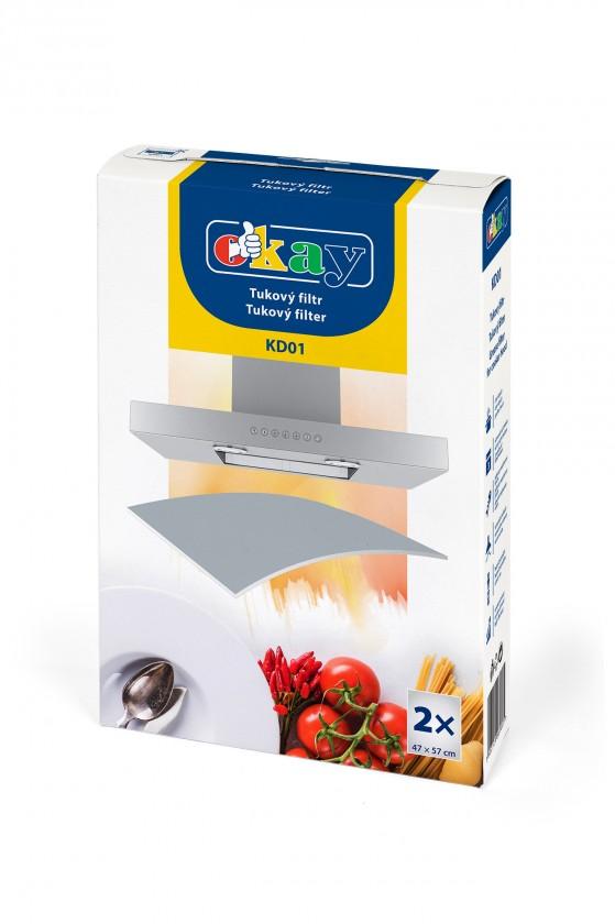 Příslušenství pro odsavače par UNI tukový filtr pro odsávače K&M KD01,2x