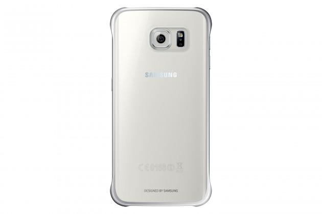 Příslušenství pro S6 Samsung gelskin pro Galaxy S6 Edge, transparentní + stříbrná