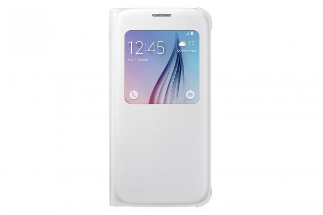 Příslušenství pro S6 Samsung pouzdro S-View pro Galaxy S6, bílé