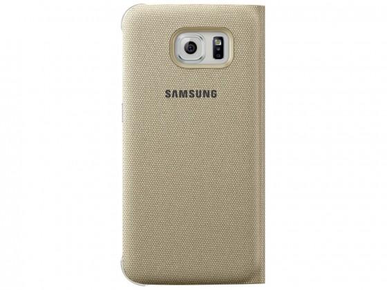 Příslušenství pro S6 Samsung textilní pouzdro pro Galaxy S6, zlaté