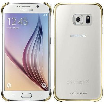 Příslušenství pro S6 Samsung Zadní Kryt Clear Gold pro Galaxy S6