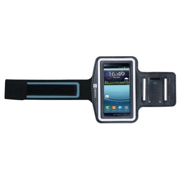 Příslušenství pro sport Connect IT sportovní pouzdro na ruku pro Galaxy S4 a menší, černá