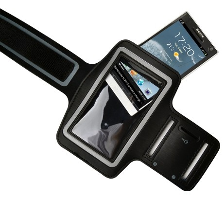 """Příslušenství pro sport """"Datram sportovní pouzdro na ruku pro mobily 4-4,8"""""""",  černá"""""""