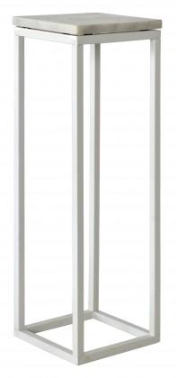 Přístavný stolek Accent - vyšší (mramor, bílá)