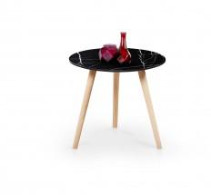 Přístavný stolek Aida (černá)