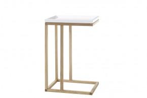 Přístavný stolek Juvena (bílá)
