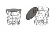 Přístavný stolek Mariffa (černá/šedá)