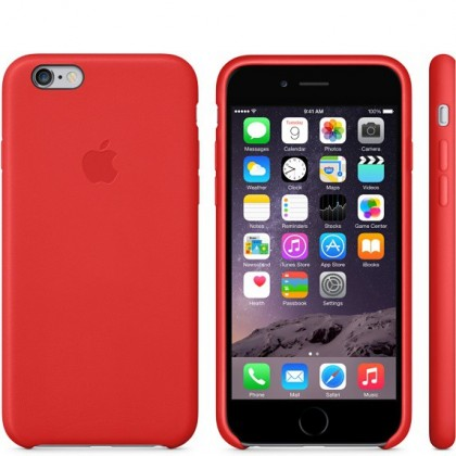 Pro Apple Apple iPhone 6 Leather Case Bright Red