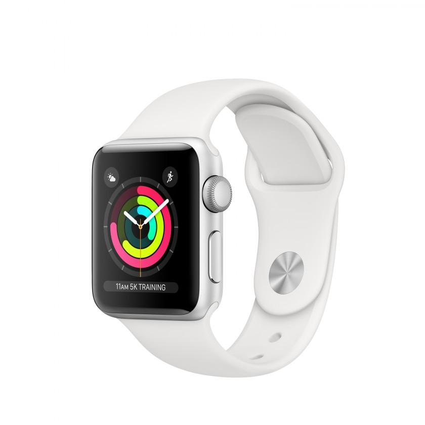 Pro Apple Apple Watch Series 3 GPS, 38mm, stříbrná, sportovní řemínek