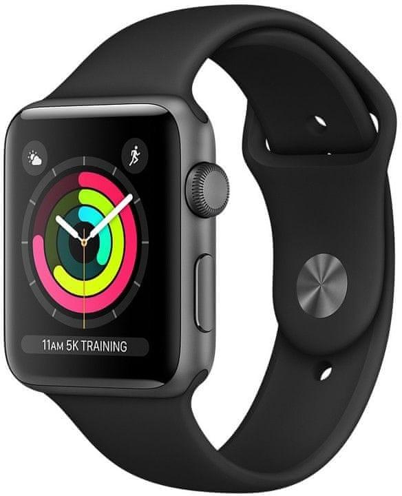 Pro Apple Apple Watch Series 3 GPS, 42mm, šedá, sportovní řemínek