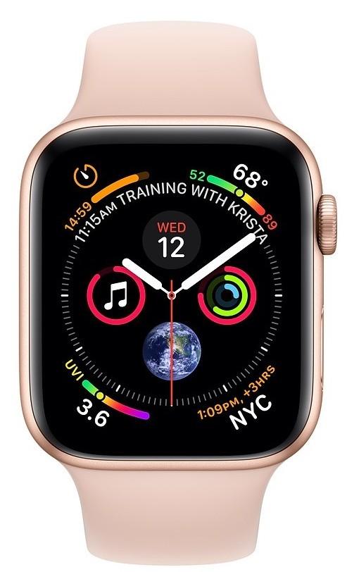 Pro Apple Apple Watch Series 4 GPS, 40mm, růžová, sportovní řemínek
