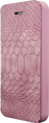 Pro Apple Bigben flip pouzdro pro iPhone 6/6s, croco flap, růžová