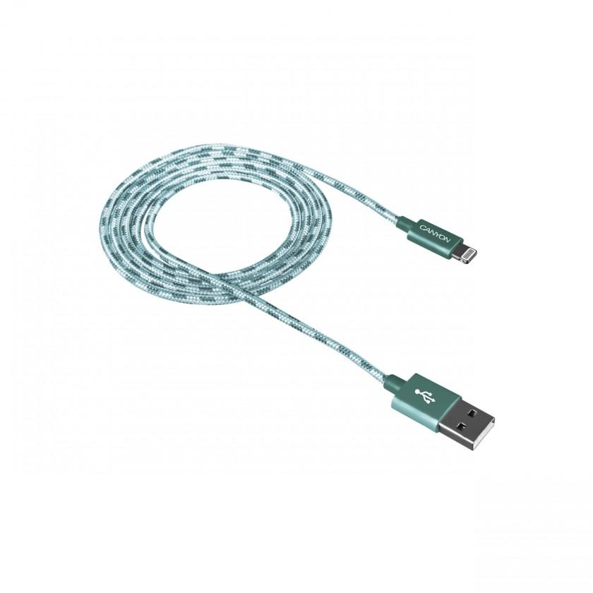 Pro Apple Kabel Canyon Lightning na USB, 1m, pletený, zelená